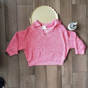 Free People V Neck Knit Sweater Pullover